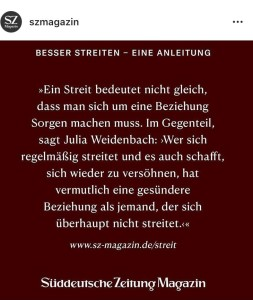 Interview mit SZ-Magazin, Instagram-Screenshot vom 21.10.2020